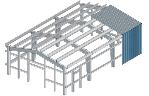 Steel Buildings Drawings Steel Frame Building