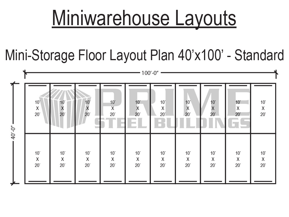 mini storage building plans